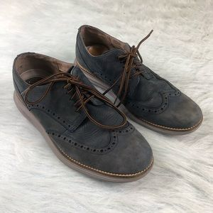 Cole Haan Grand OS Men's Suede Oxford Shoes 7.5 M